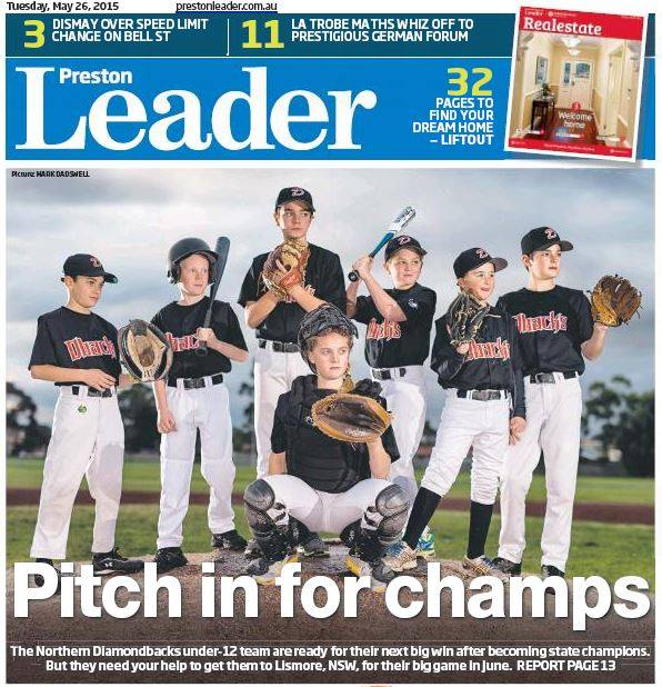 Northern Diamondbacks making front page news